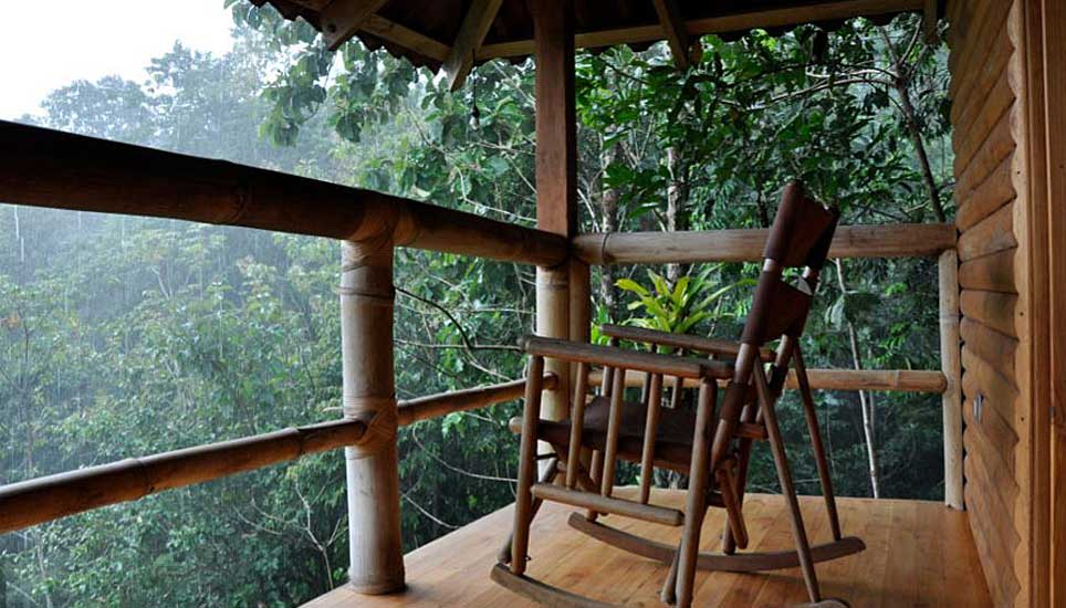 Macaw lodge balcony